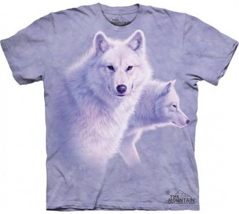 3д футболка с волками