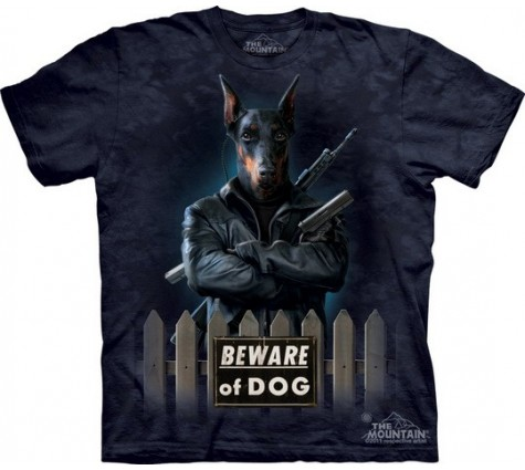 3д футболка Beware of DOG