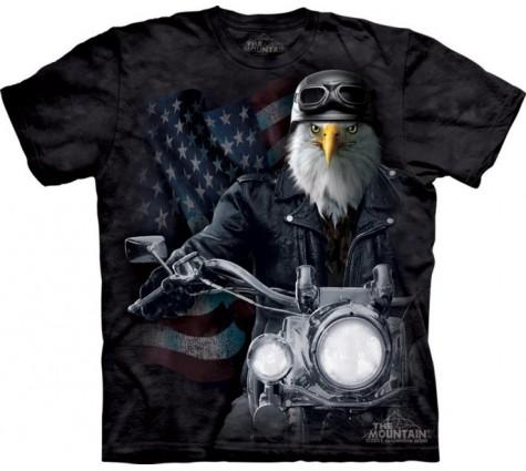 3д футболка орел байкер