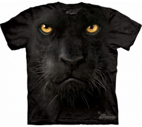 3д футболка морда черной пантеры