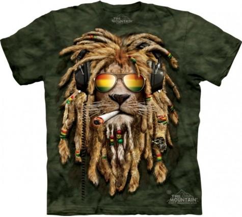 3д футболка диджей лев
