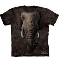 3д футболка с мордой слона