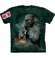 3д футболка дог солдат
