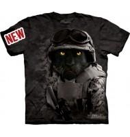 3д футболка пантера солдат