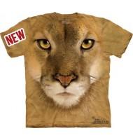3д футболка с мордой льва