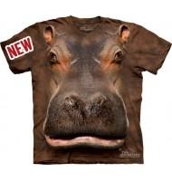 3д футболка с мордой бегемота