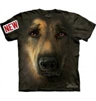 3д футболка овчарка