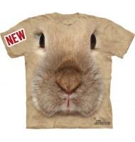 3д футболка с мордой кролика