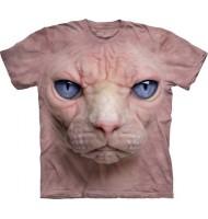 3д футболка с принтом розового сфинкса