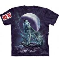 3д футболка волк и луна