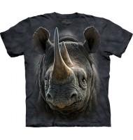 3д футболка с носорогом