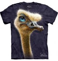 3д футболка с страусом