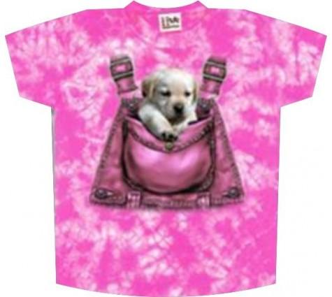 Футболка собака в кармане k-157