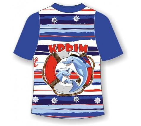 Детская футболка Дельфин в круге
