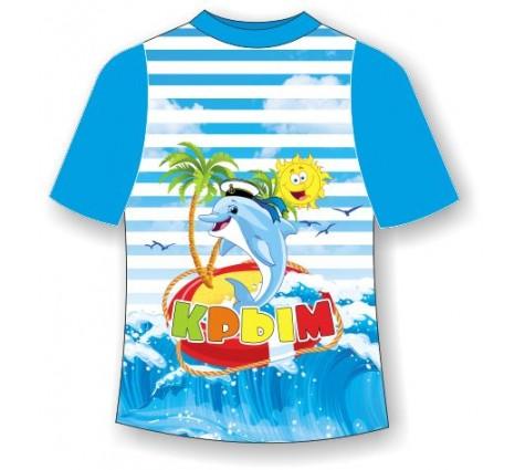Детская футболка Крым дельфин 3