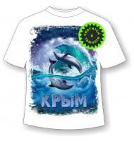 Детская футболка Дельфины ночью 967