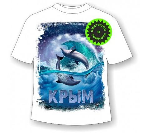 Детская футболка Дельфины ночью