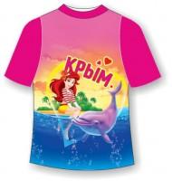 Детская футболка Девочка с дельфином
