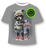 Детская футболка Енот в капюшоне