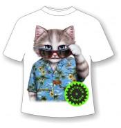 Детская футболка Кот Алоха 955