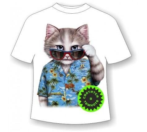 Детская футболка Кот Алоха