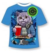 Детская футболка Кот бездельник 992