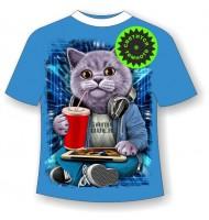 Детская футболка Кот бездельник