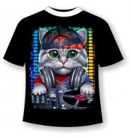 Детская футболка Кот Dj