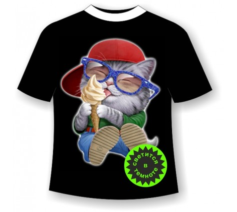 Детская футболка Котенок с мороженным
