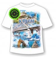 Детская футболка Мост коллаж