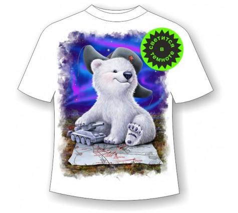 Детская футболка Белый мишка