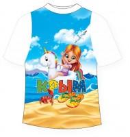 Детская футболка Девочка на единороге