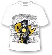Детская футболка Енот с рогаткой (В)