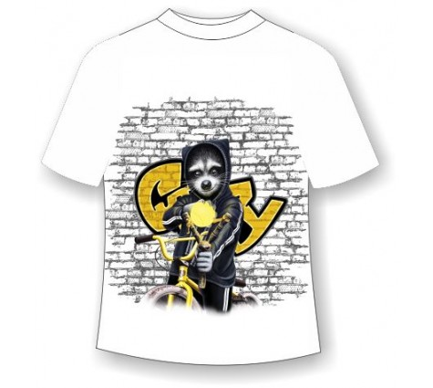 Детская футболка Енот с рогаткой
