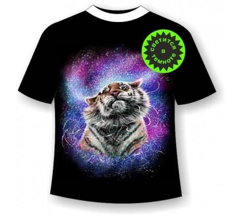 Детская футболка Тигр брызги