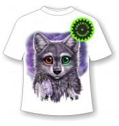 Детская футболка Разноглазый волчонок 1048