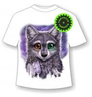 Детская футболка Разноглазый волчонок