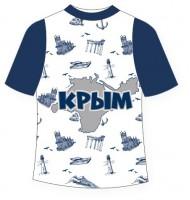 Детская футболка Крым текстура 2