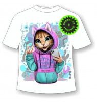 Детская футболка Котенок в одежде 1143
