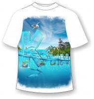 Детская футболка Крым прозрачные буквы