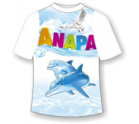 Детская футболка Анапа дельфин 2
