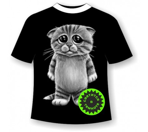 Детская футболка Котенок 667
