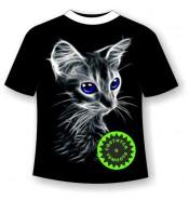 Детская футболка с котенком 761 (B)