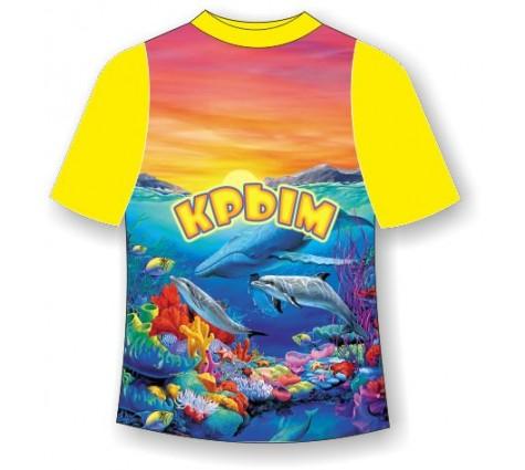 Детская недорогая футболка Морское дно