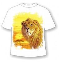 Детская футболка Лев желтый