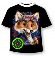 Детская футболка Лиса авиатор 926