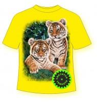 Детская футболка с тигрятами сафари 865 (B)