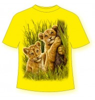 Детская футболка со львятами 796 (B)