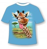 Детская футболка с приколом Жираф веселый 799