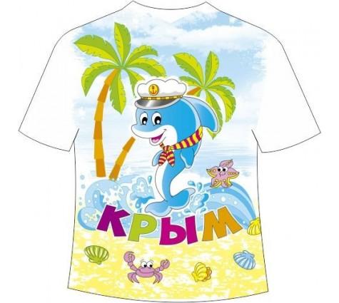 Детская футболка Крым дельфин